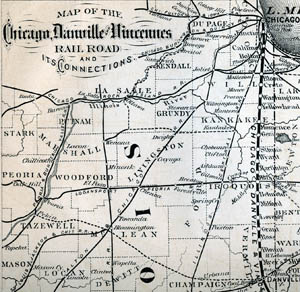 Railroads in the midwest early documents and images knox college chicago danville vincennes rr map malvernweather Images